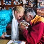Receiving my blessing from Lama Geishe